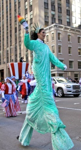 Statue of Liberty in the Macy's Thanksgiving Day Parade.