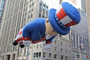Uncle Sam in the Macy's Thanksgiving Day Parade.