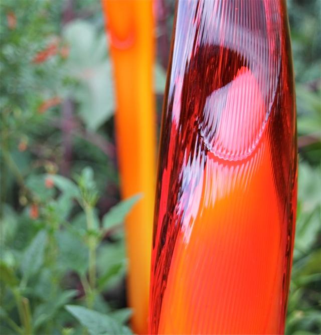 Flame-like translucence.