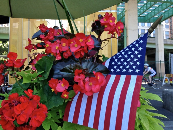 Flower Box Flag, Hudson River Park