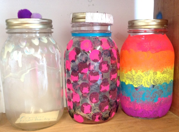 Decorated Mason Jars.