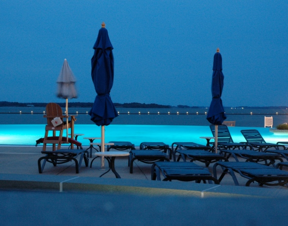 Chesapeake Hyatt Infinity Pool and Chesapeake Bay, Maryland