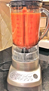 Puree in blender.