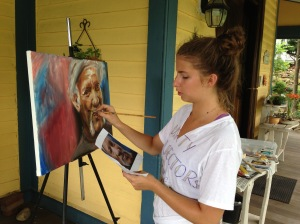 Morgan Gruer--artist at work.