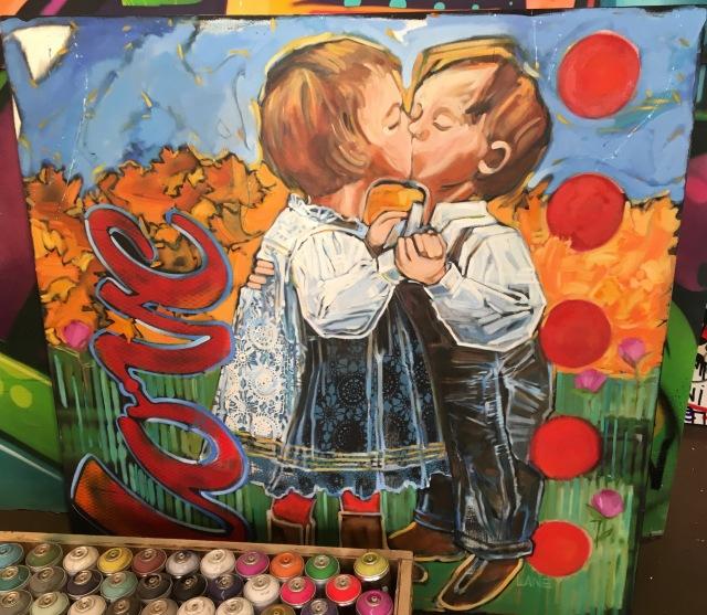 Surprising work by graffiti artist Hoacs.