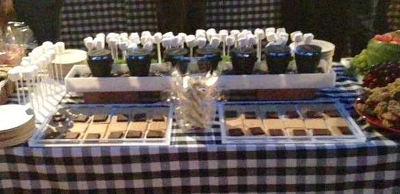 One side of the S'mores station.