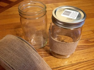 Decide on which width ribbon works on what size jar.