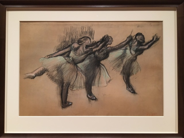 Three Dancers, 1900-1905, charcoal and pastel on tracing paper