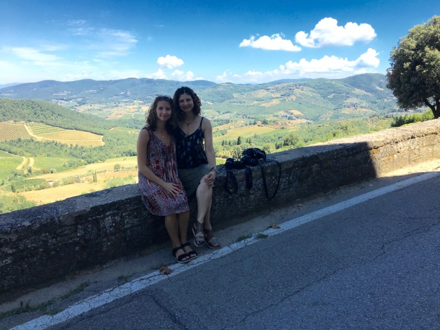 Morgan and me in Tuscany.