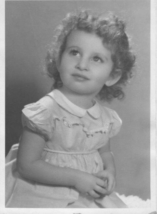 Barbara Ellen, my mom as a toddler.