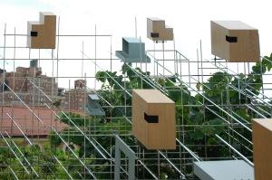 Modern birdhouse on the High Line