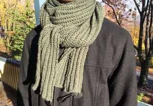 I used Merino Superwash so this scarf would be easy to wash and dry.