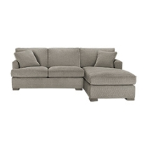 Dune Upholstered Queen Sleeper Sofa w/Chaise in Tripoli Pebble by Arhaus.