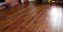 Dark wood floors.