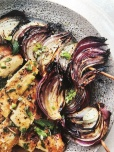 Grilled onion, photo from Bittman's new cookbook.