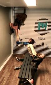 Defying gravity.