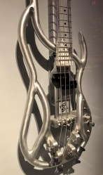 Born to Rock's patented aluminum tube frame electric bass.