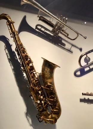 "Chicago's Lee Loughnane's trumpet. Bruce Springsteen and the E Street Band's Clarence Clemons played this saxophone in solos on ""Jungleland"" and ""Thunder Road"" in 1975."