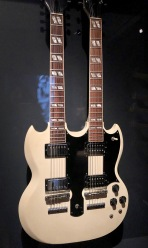 "The Eagle's Don Felder used this white, double-neck guitar for both the six-string and twelve-string parts of ""Hotel California"" in the live performances."