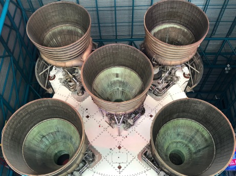 Marveling at the Saturn V engines.