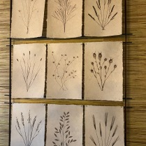 I was taken with Katja van der Loo of Papyrus Home Design's Breakfast Room wall decor. I especially liked the botanical photographs printed on handmade paper and hung on an iron rack.